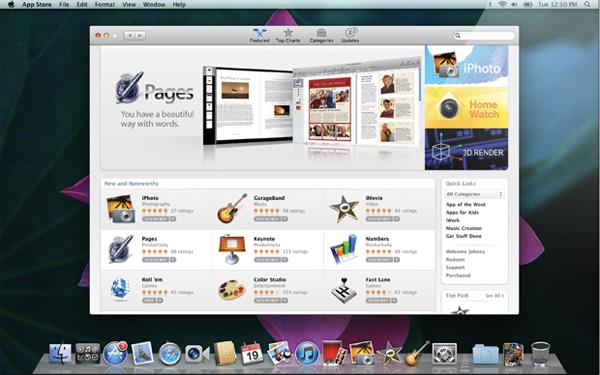 Der Mac App Store Marktplatz
